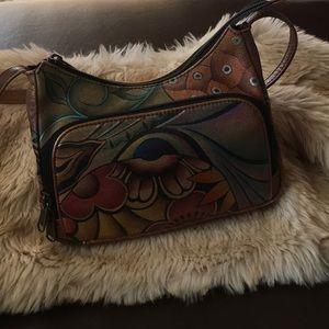 ANUSCHKA Hand painted crossbody purse GUC 👜